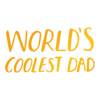 Ultimate Crafts Sweet Sentiments Hotfoil Stamp World's Coolest Dad