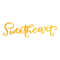 Ultimate Crafts Sweet Sentiments Hotfoil Stamp Sweetheart