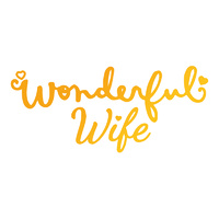 Ultimate Crafts Classic Sentiments Hotfoil Wonderful Wife