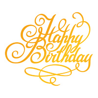 Ultimate Crafts Classic Sentiments Hotfoil Happy Birthday