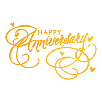 Ultimate Crafts Classic Sentiments Hotfoil Happy Anniversary