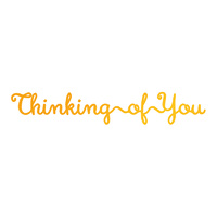 Ultimate Crafts Classic Sentiments Hotfoil With Thinking of You