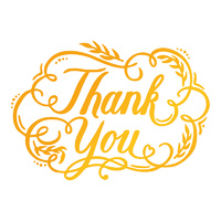Ultimate Crafts Classic Sentiments Hotfoil Thank You