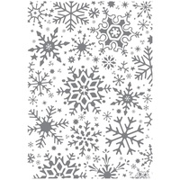 Ultimate Crafts Stamp Set 4x6 Fractal Snowflakes