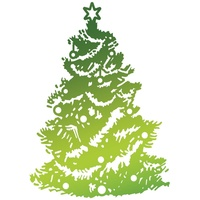 Ultimate Crafts Hotfoil Stamp Christmas Tree