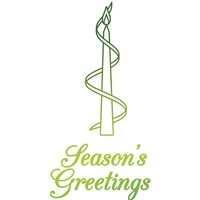 Ultimate Crafts Hotfoil Stamp Season's Greetings Candle