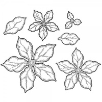Sue Wilson Stamps Shaded Poinsettia UMS634