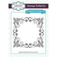 Sue Wilson Stamps  Holly Berry Frame UMS730