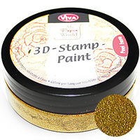 Viva Decor 3D Stamp Paint 50ml Gold