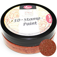 Viva Decor 3D Stamp Paint 50ml Copper