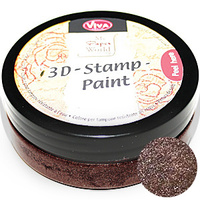 Viva Decor 3D Stamp Paint 50ml Walnut Brown