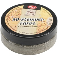 Viva Decor 3D Stamp Paint 50ml Silver Gold Metallic
