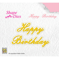Nellie's Shape Die Happy Birthday