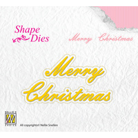 Nellie's Shape Die Merry Christmas