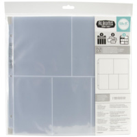 12x12 Album Refills Page Protectors (10 Pack) 3 (4 X6 ) & 2 (6 X6 ) We R Memory Keepers