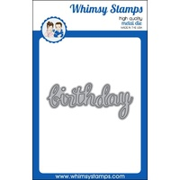 Whimsy Stamps Die - Birthday Large Word Die FREE SHIPPING