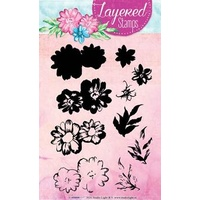 Studio Light Layered Stamps Flowers and Leaves