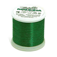 Madeira Metallic Machine Embroidery Thread No. 40 Emerald Green 200m Col.57