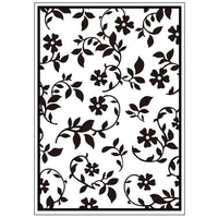 MPRESS Embossing Folder Garden Flowers 4.25x5.5