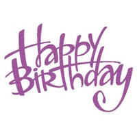 Presscut Cutting and Embossing Die - Happy Birthday #1 FREE SHIPPING