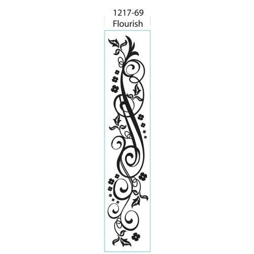 DARICE Embossing Folder Border 6.4cm x 30cm Flourish