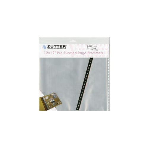 Zutter BindItAll PrePunched Page Protectors 12x12