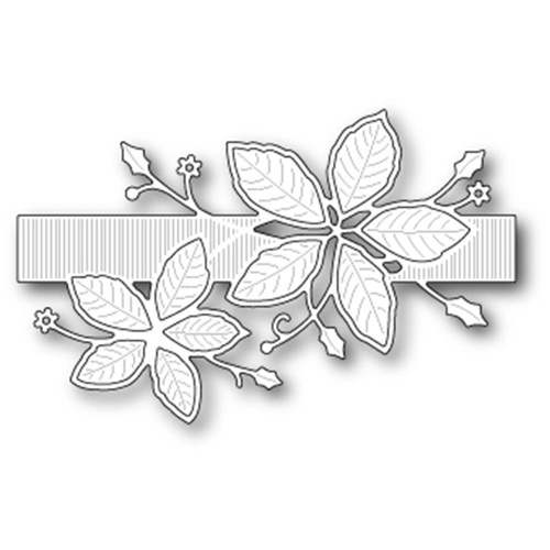 Memory box die poinsettia band 99490 for 99490