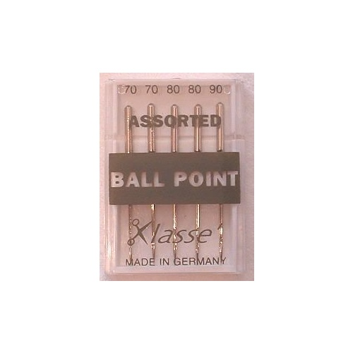 Klasse Ball Point Needles Assorted Sizes 70, 80, 90