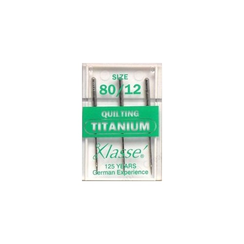 Klasse Machine Quilting Needles 80/12 Titanium