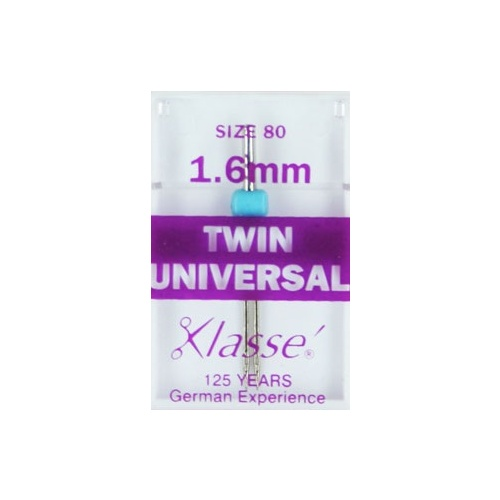 Klasse Universal Twin Needles 1.6mm Size 80/12