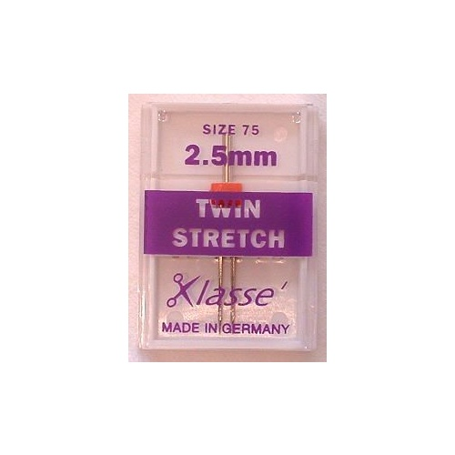 Klasse Stretch Twin Needles 2.5mm Size 75/11