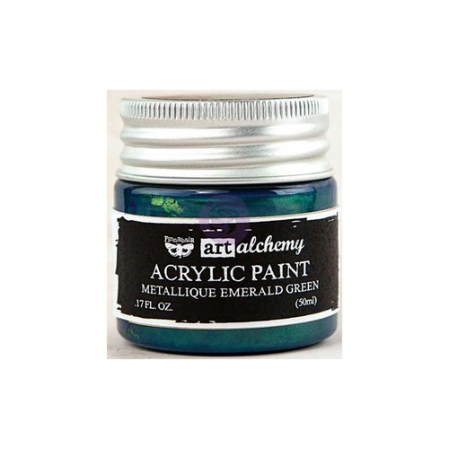 Finnabair Art Alchemy Acrylic Paint 50ml Metallique Emerald Green
