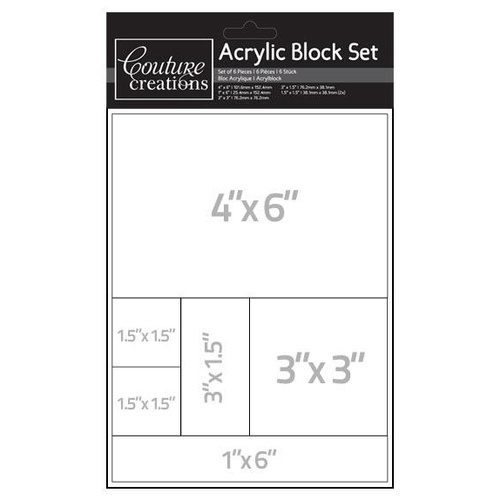 Couture Creations Acrylic Stamping Blocks Set
