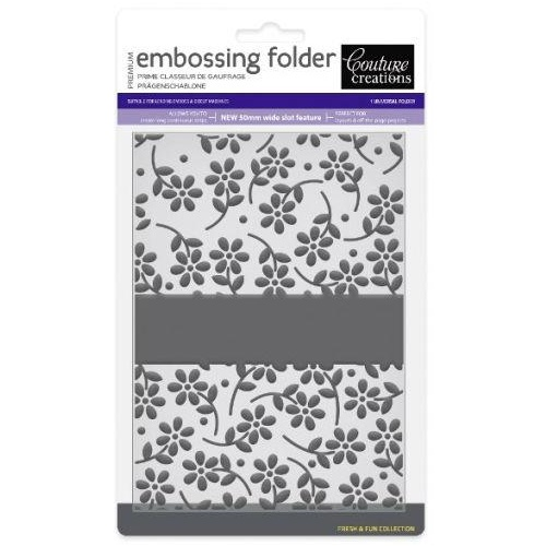 Couture Creations Embossing Folder 5x7 Fresh & Fun Petal Pleasures
