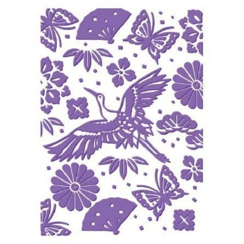 Couture Creations Embossing Folder 5x7 Harmony Collection Oriental Garden