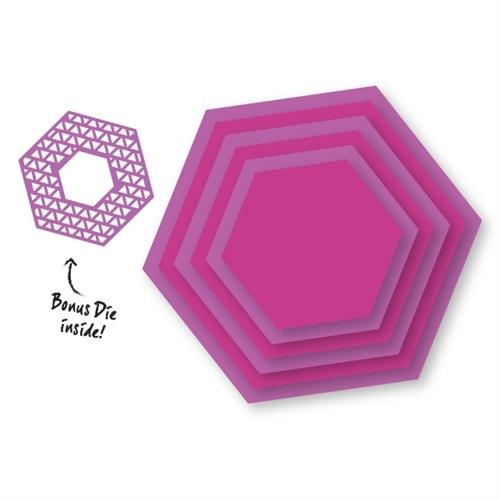 Couture Creations Dies Nesting Hexagons