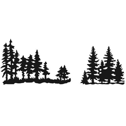 Marianne Design Craftables Dies Tiny's Pine Trees CR1287