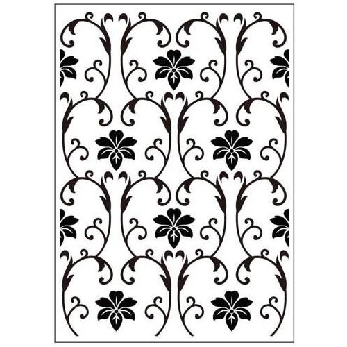 Crafts-Too Embossing Folder Vintage Flowers 4.25x5.5