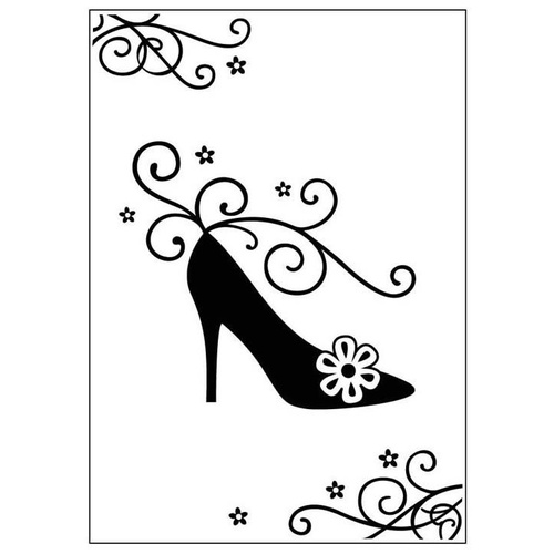 Crafts-Too Embossing Folder High Heel Shoe 4.25x5.5