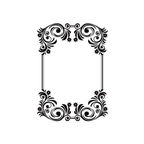 Crafts-Too Embossing Folder Flourish Frame 4.25x5.5