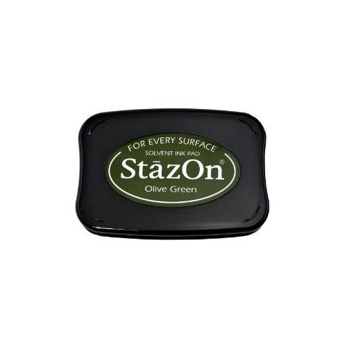 StazOn Craft Ink  Olive Green