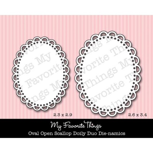 My Favourite Things Dienamics OVAL Open Scallop Duo Doily Die