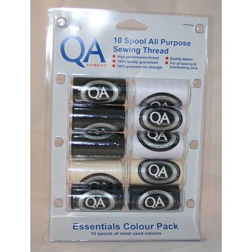 10 Spools x 500m All Purpose Sewing Thread QA Pack