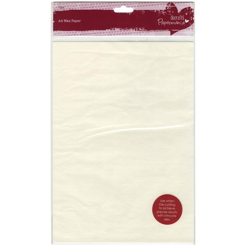 Papermania Docrafts A4 Wax Paper 10pk