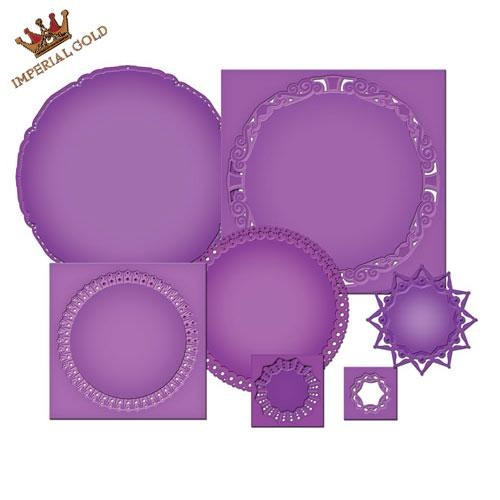 Spellbinders Nestabilities Imperial Gold Majestic Elements Gold Circles One S4-390