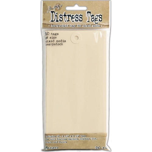 Tim Holtz Distress Mixed Media Heavystock Tags 6.25 x 3.25 20 Pack