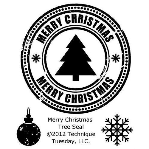 Technique Tuesday Stamps Merry Christmas Tree Seal