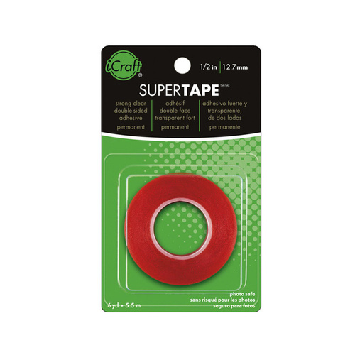 Therm O Web Double-Sided SuperTape 1/2 Inch STRONGEST Bond