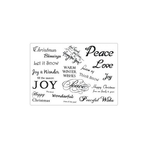 Creative Expressions Winter Greetings A5 Stamp Plate