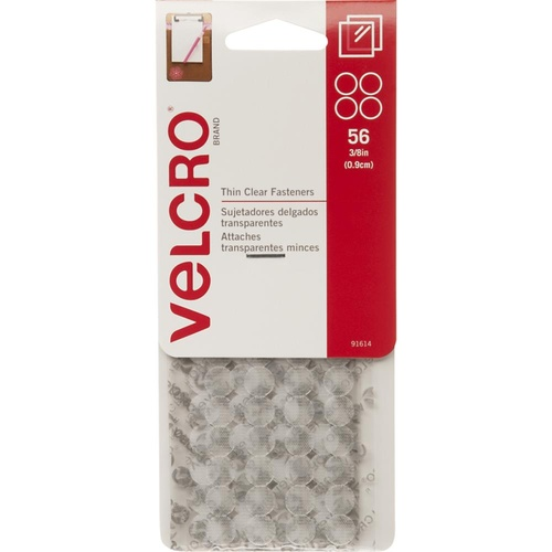 VELCRO Brand Thin Fasteners Dots 3/8 Inch 56/Pkg